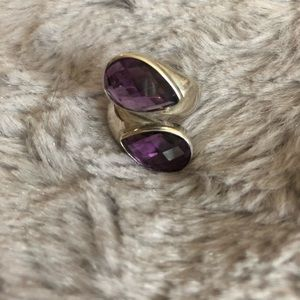Silver & Amethyst ring size 7